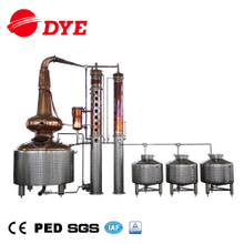 DYE 500 lt copper distiller alambic distilation alcohol electrik column distillation of alcohol