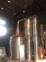 DYE-I 5000L Industrial Alcohol Distillery Equipment Copper Whisky distiller for Sale