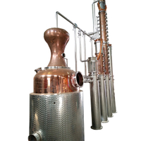 Copper wine distillery equipment vodka alcohol distiller for sale