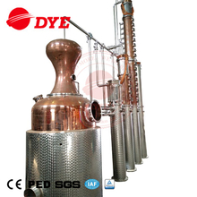 500L 1000L 2000L 3000L 5000L Copper Distilling Equipment with Bubble Cap Plates Fractional Copper Column for Gin Vodka Whisky Brandy Rum Distillery