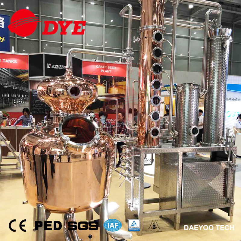 DYE-II 200L Alcohol Dstillation Equipment Copper Whisky Gin still for Sale